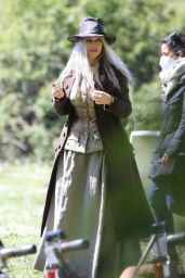 "Monica Bellucci - ""La Befana Comes at Night"" Filming Set in Rome 04/10/2021"