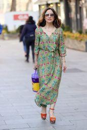 Myleene Klass in a Floral Dress 04/04/2021