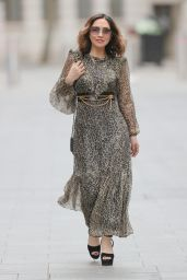 Myleene Klass in Shear Green Print Dress 04/03/2021