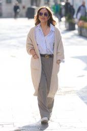 Myleene Klass in Striped Shirt and Gucci Belt 04/13/2021