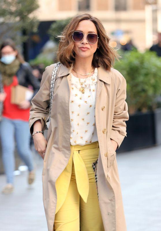Myleene Klass in Yellow Corduroy Trousers 04/24/2021