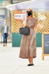 Nicky Hilton in a Leopard Print Dress and Ballet Flats - New York City 04/14/2021