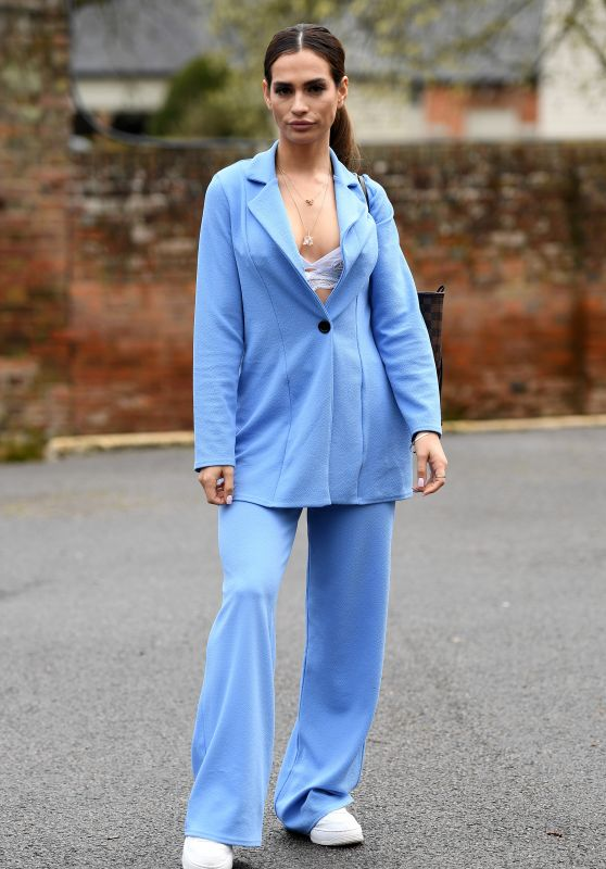 """Nicole Bass – """"The Only Way is Essex TV Show Filming in Essex 03/28/2021"""