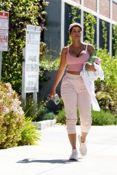 Nicole Murphy in a Pink Tight Top - Los Angeles 04/28/2021