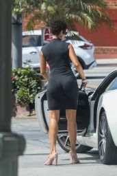 Nicole Murphy in a Tight Black Dress - West Hollywood 04/10/2021