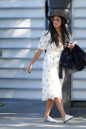 Nicole Scherzinger in a White Summer Floral Dress - LA 04/29/2021
