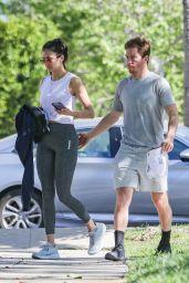 Nina Dobrev - Heading to Gym in LA 04/19/2021
