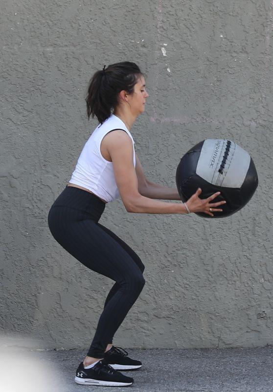 Nina Dobrev Working Out - Santa Monica 04/16/2021