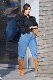 Olivia Culpo in Cowboy Boots at Valentino in Beverly Hills 04/11/2021