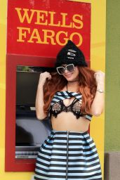 Phoebe Price at a Wells Fargo ATM 04/29/2021