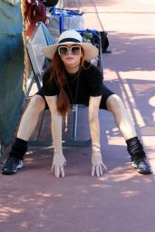Phoebe Price at the Courts in Los Angeles 04/20/2021