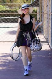 Phoebe Price at the Tennis Courts in LA 04/01/2021