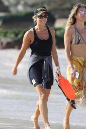 Pip Edwards on Bondi Beach in Sydney 04/07/2021