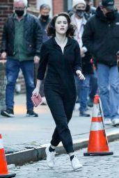 "Rachel Brosnahan and Alex Borstein - ""The Marvelous Mrs. Maisel"" Set in NY 04/24/2021"