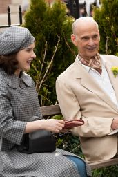 "Rachel Brosnahan and John Waters - ""The Marvelous Mrs. Maisel"" Set in in NYC 03/31/2021"