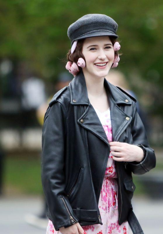 """Rachel Brosnahan - """"Marvelous Mrs. Maisel"""" Filming Set 04/29/2021"""
