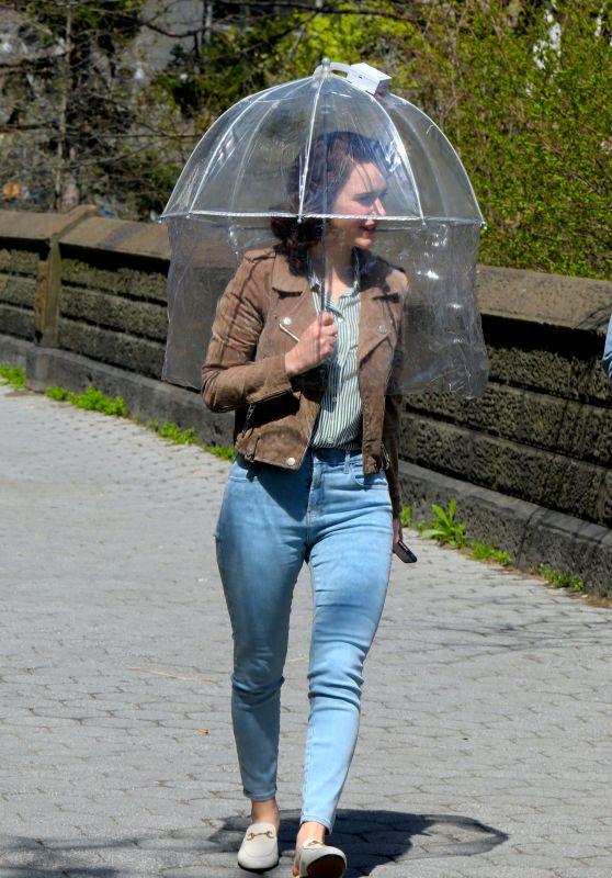 """Rachel Brosnahan - """"The Marvelous Mrs Maisel"""" Set in Uptown, Manhattan 04/16/2021"""