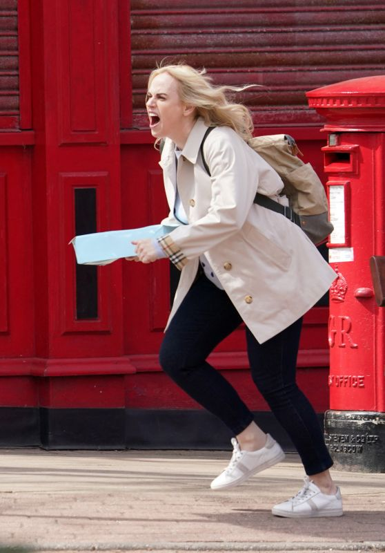 """Rebel Wilson - """"The Almond and the Seahorse"""" Filming Set in London 04/26/2021"""