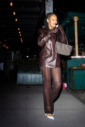 Rihanna at Pastis in New York 04/05/2021