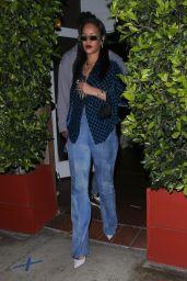 Rihanna in Gucci Blue While at Giorgio Baldi in Santa Monica 04/24/2021