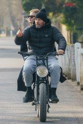 Rosie Huntington-Whiteley and Jason Statham Ride on Electric Bike in London 03/24/2021