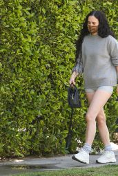 Rumer Willis in Casual Outfit 03/31/2021