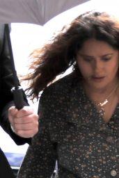 "Salma Hayek as Pina Auriemma on Set of the New Ridley Scott Movie ""House of Gucci"" 04/22/2021"