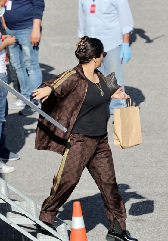 "Salma Hayek - ""House of Gucci"" Set in Rome 04/01/2021"