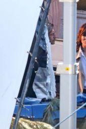 "Sandra Bullock and Brad Pitt - ""Bullet Train"" Filming Set in Los Angeles 04/03/2021"