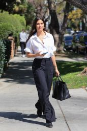 Sara Sampaio in Office Chic Outfit - Los Angeles 04/07/2021
