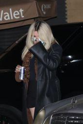 Selena Gomez Shows Off Her New Platinum Blonde Hair - Nobu in Malibu 04/25/2021