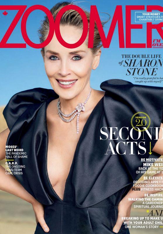 Sharon Stone - Zoomer Magazine April 2021 Issue