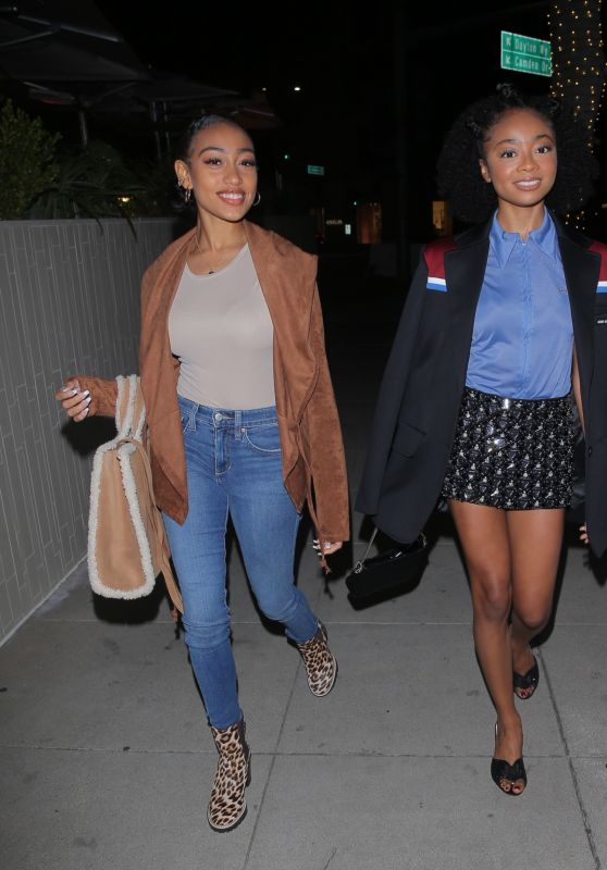 Skai Jackson and Lexi Underwood - Night Out in Beverly Hills 04/23/2021