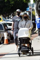 Stassi Schroeder and Beau Clark With Their Newborn Daughter in LA 04/11/2021