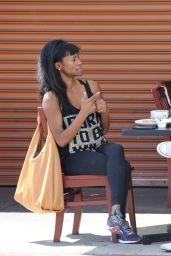 Sufe Bradshaw at Kings Cafe in LA 04/27/2021