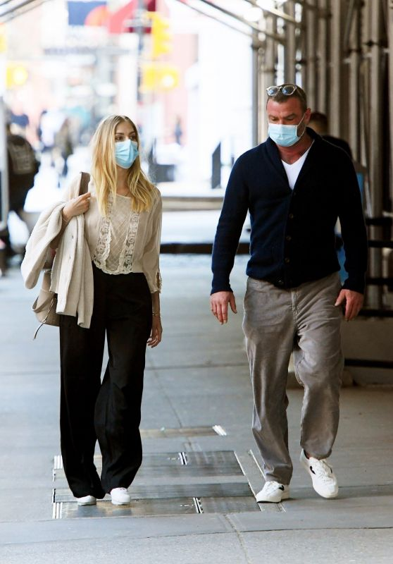 Taylor Neisen and Liev Schreiber - Out in New York 04/13/2021