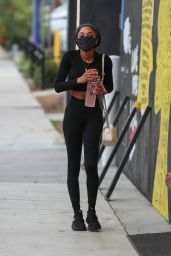Teala Dunn in Workout Outfit at Dogpound in West Hollywood 04/13/2021