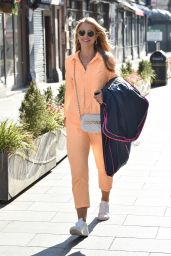 Vogue Williams - Arriving at the Global Studios in London 04/14/2021
