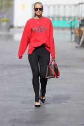 Vogue Williams in Black Leggings and Red Top 04/25/2021