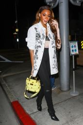 Winnie Harlow Night Out Style - Il Pastaio in Los Angeles 04/29/2021