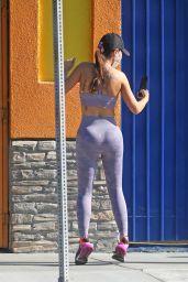 Yolanthe Sneijder-Cabau in Workout Gear in Los Angeles 04/07/2021