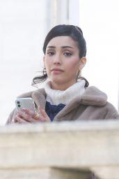 "Zion Moreno, Jordan Alexander, Emily Alyn Lind and Whitney Peak - ""Gossip Giril"" Reboot Filming in NY 04/06/2021"