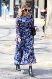 Zoe Hardman in Floral Print Dress in London 04/24/2021