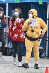 "Zoe Saldana - ""The Bluff"" Filming Set 04/14/2021"