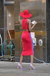 Zozibini Tunzi (Miss Universe) - Out in New York 04/08/2021