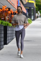 Alessandra Ambrosio at the Brentwood Country Mart 05/17/2021