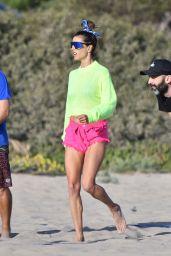 Alessandra Ambrosio - Beach in LA 04/30/2021
