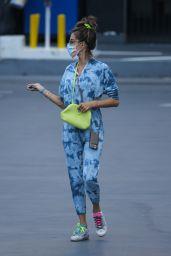 Alessandra Ambrosio in a Tie-dye Jumpsuit - Santa Monica 05/19/2021