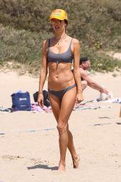 Alessandra Ambrosio Plays Volleyball on the Beach in Malibu 05/08/2021
