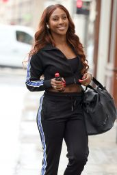 Alexandra Burke in Comfy Outfit - London